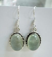 Prehnite Gemstone Latest Design Sterling Silver Earring