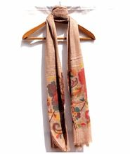 Stole Premium Luxury Hand Embroidered Camel Stole