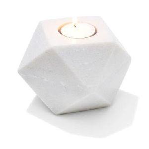 Tealight Holder Geo Marble
