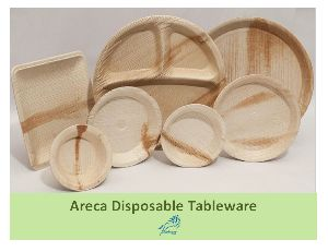 Areca Leaf Disposable Plate Bowl Ecofriendly Tableware Cutlery