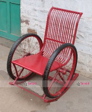 Indian Recycled Iron Rocking Chair