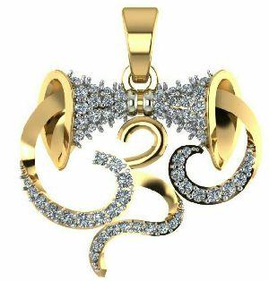 Designer Gold Pendant 01