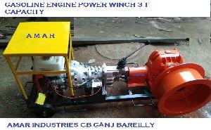 Gasoline Power Winch Machine