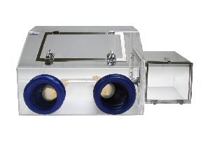 Portable Isolation Glovebox Two Port Static-dissipative Acrylic 27x18x18