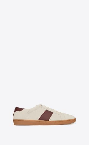 Court Classic Sl/01 Sneaker In Cream And Burgundy Leather