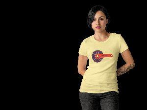 ONE SUMMER Womens round neck t-shirt