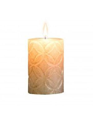 Global Embossed Pillar Candle