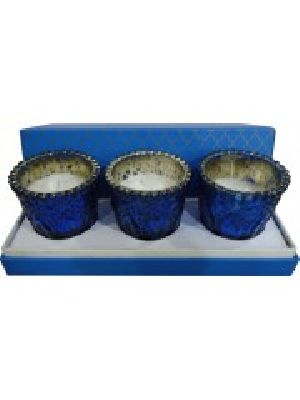 Global Hand Crafted Embossed Candle Votive