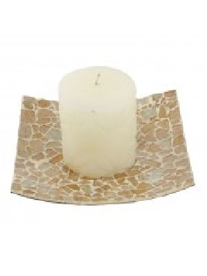 Mosaic Plate With Candle