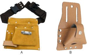 Leather Apron And Tape Holder