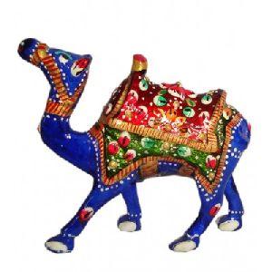 Painted Metal Camel