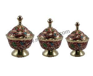 Brass 3 Pot Set