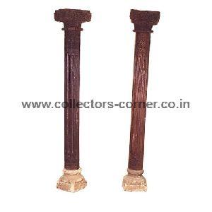 Wood Antique Columns