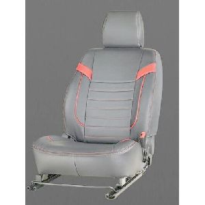 Grey & Pink Art Leather Car Seat Covers