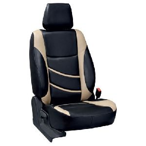Black & Cream Rexine Car Seat Covers