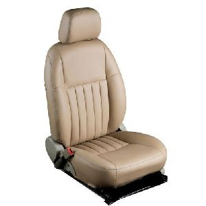Cream Rexine Car Seat Covers