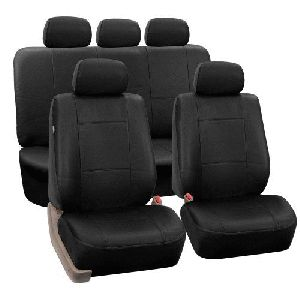 Black Rexine Car Seat Covers