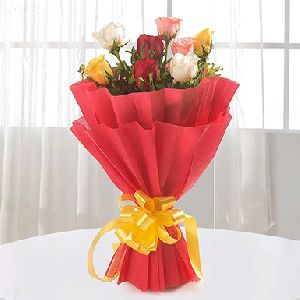 8 Mix Roses Bouquet