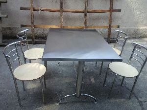 Stainless Steel Table And Chairs