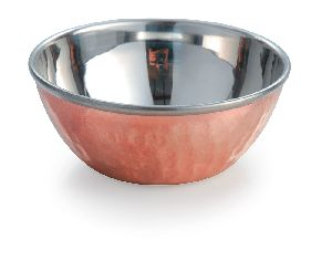 Copper And Stainless Steel Bowl