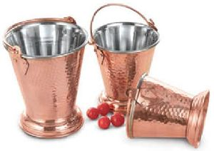 Copper And Stainless Steel Buckets
