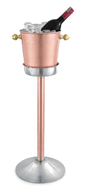 Copper And Stainless Steel Champagne Bucket Stand