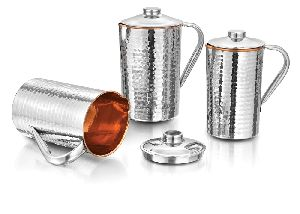 Copper And Stainless Steel Jug Set
