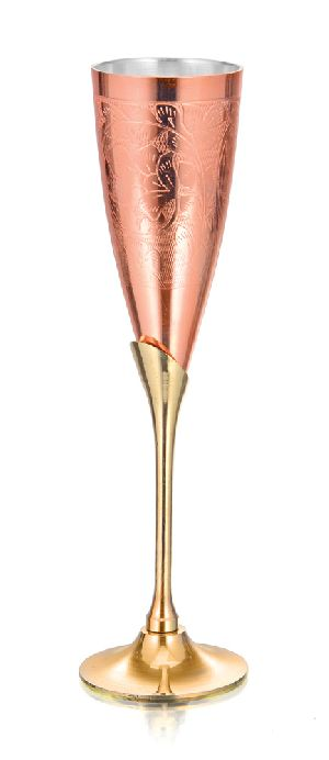 Copper Champagne Glass