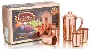 Veracity Copper Glass And Jug Set