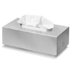 Tissue box with metal lid