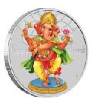 Diwali Festival Silver Coin