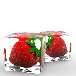 Fruit Or Herbs In Ice