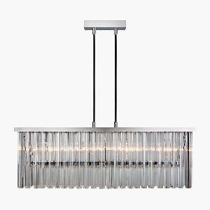 Modern Glass Hanging Lamp Living Pendant Light 4 Lights