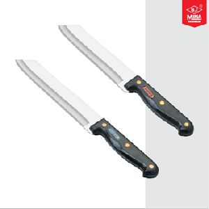 Curved Blade With Brass Revet Knife