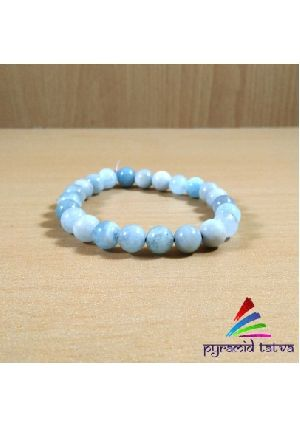 Aquamarine Bead Bracelet