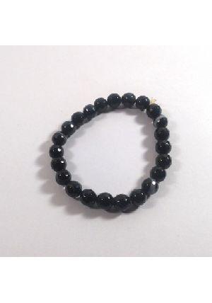 Black Hakik Diamond Cut Beads Bracelet