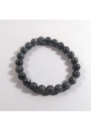 Black Labradorite Bead Bracelet