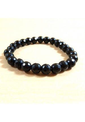 Black Obsidian Diamond Cut Beads Bracelet