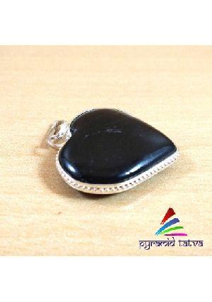 Black Tourmaline Heart Pendant