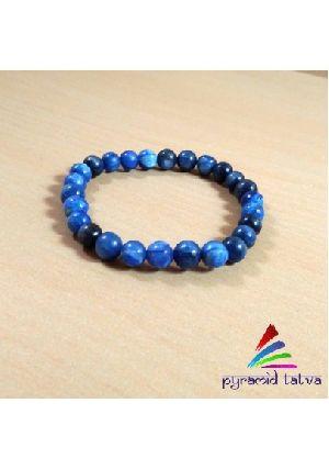Blue Kyanite Bead Bracelet