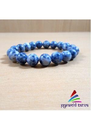 Blue Sodalite Bead Bracelet