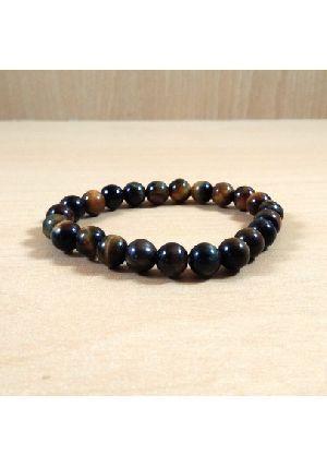 Blue Tiger Eye Beads Bracelet