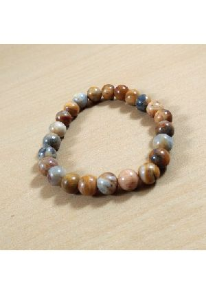 Crazy Lace Agate Beads Bracelet
