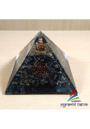 Golden Pyrite Orgonite Pyramid
