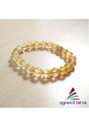 Golden Rutile Bead Bracelet