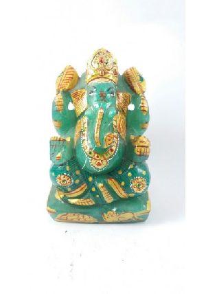 Green Aventurine Ganesh 314 Gm