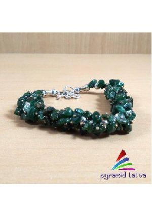 Green Jade Chip Bracelet