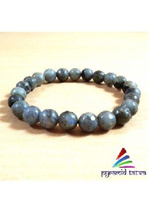 Labradorite Diamond Cut Bead Bracelet