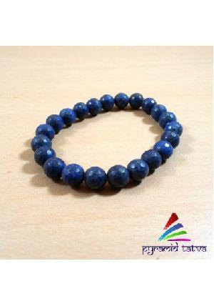 Lapis Lazuli Diamond Cut Bead Bracelet
