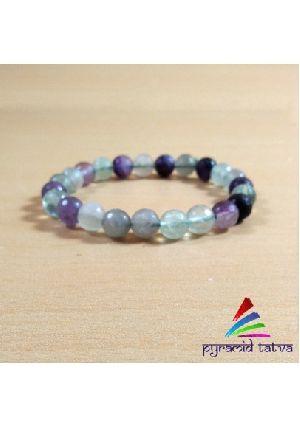 Multi Fluorite Diamond Cut Bracelet